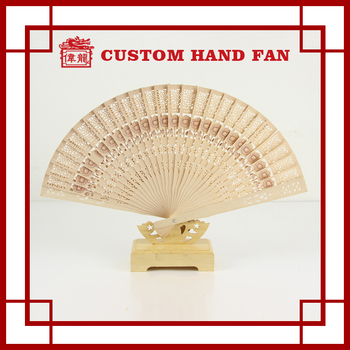 Wedding Invitation Lady Portable Wooden Folding Hand Held Fans ...