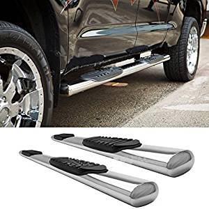 """Fit 99-16 Ford F250/F350/F450 Superduty Supercrew/Crew Cab (w/ 4 Full Size Doors) 4"""" Oval S/S Side Step Rails Nerf Bar Running Boards"""