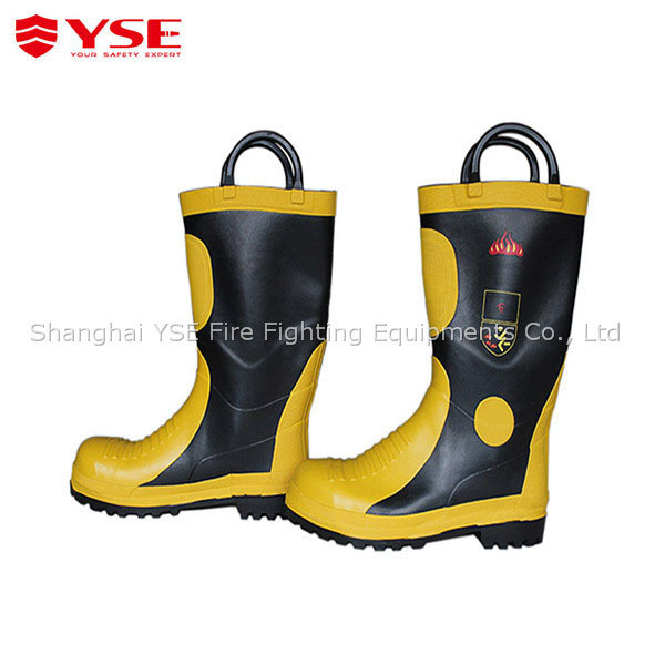 Firefighting rubber safety boots,for fireman use safety boots