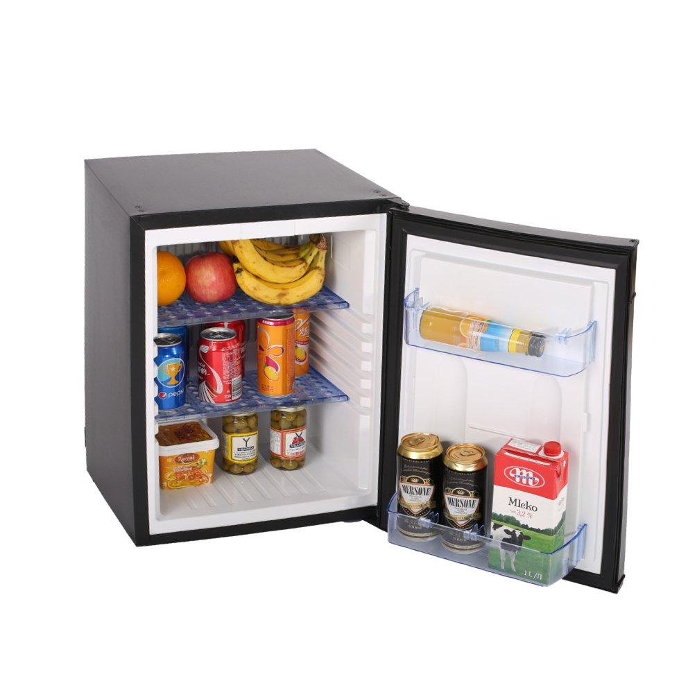 SMETA Portable Small Refrigerator 12V Truck Cooler 110V LP Gas No Noise Dorm Fridge,1.2 cu ft