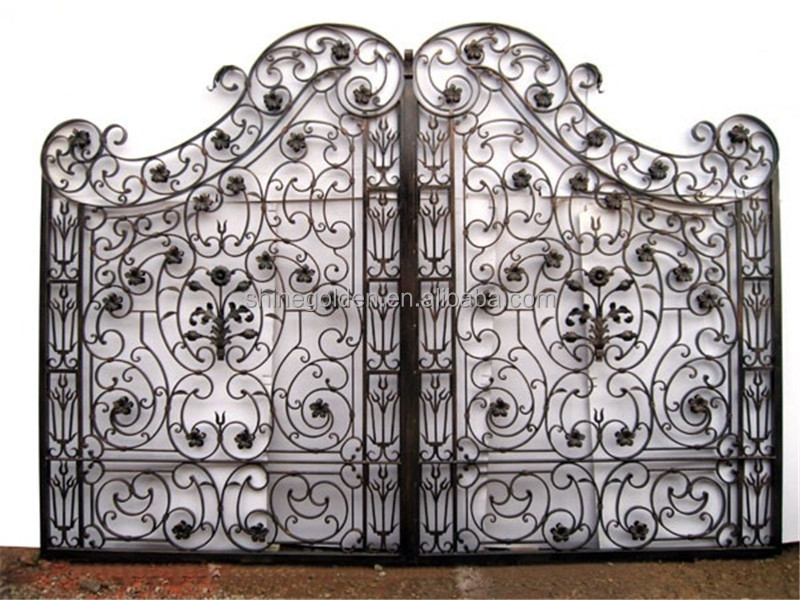 Contemporary Gates Metal Gate Double Swing Entry Gate Design