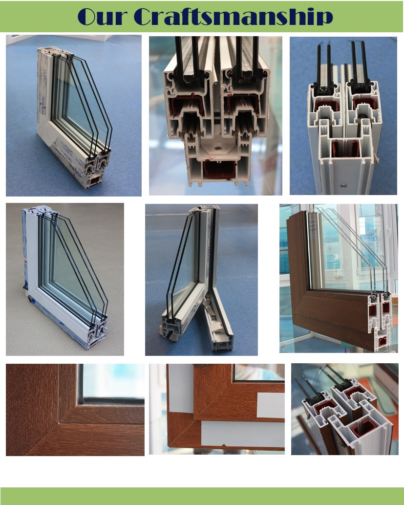 PVC Material shutter louver and blade double glass, built in shutter windows with steel net