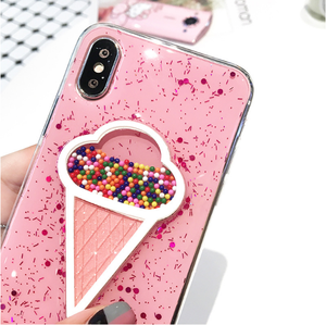 Lovely 3D Summer Ice Cream Phone Case For iPhone XR XS MAX, for iphone 6 plus case cute
