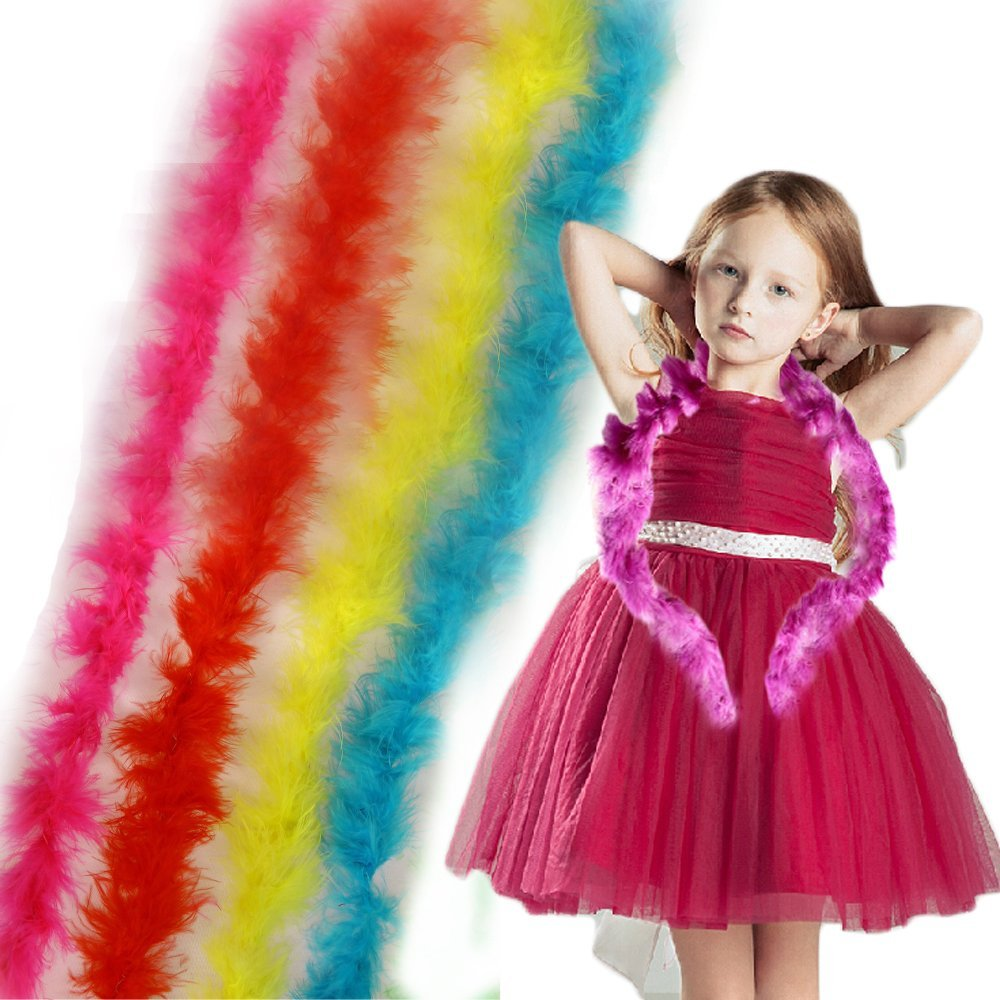 Toy Cubby Adorable Dress up Mini Marabou Feather Boas - 12 Pieces