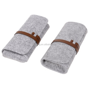 Fabric material school students eyeglasses cases with strap