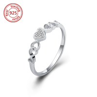 Personalized Purity Ring 925 Sterling Silver Engraved Promise Pure Heart Purity Ring