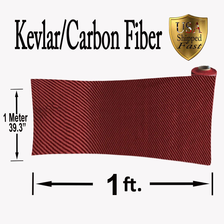 get quotations kevlar carbon fiber fabric twill weave 3k200g 1 ft x 1mtr