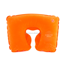 Personalized U Shaped PVC Velvet Air Filled Travel Neck Pillow