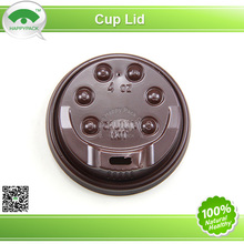 Brwon PP Plastic Lid For 4OZ Coffee Cups