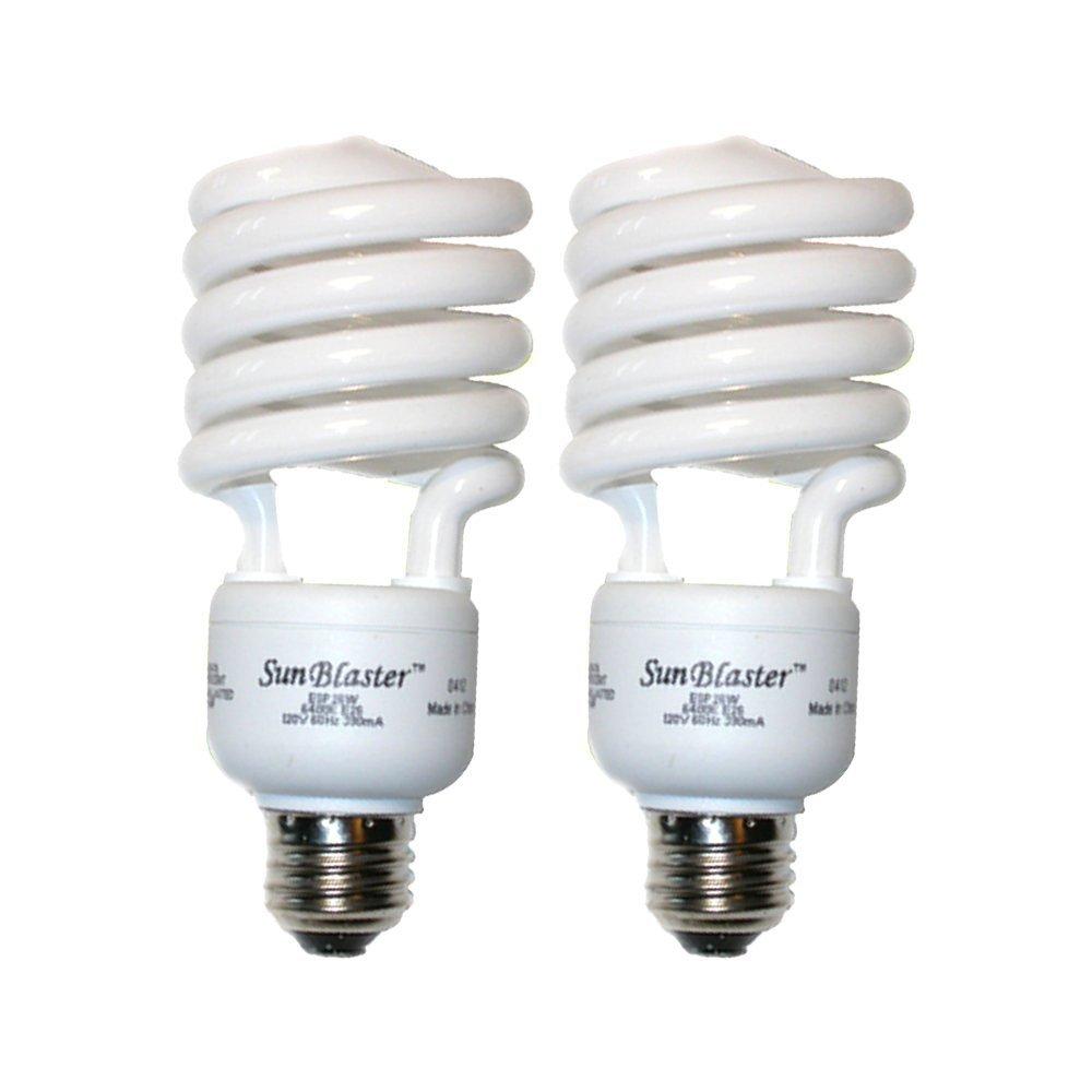 SunBlaster CFL Self ballasted Propagation lamp, 6400K Light Spectrum, 26 Watt, Fits Standard Size Light Socket (2 Pack)