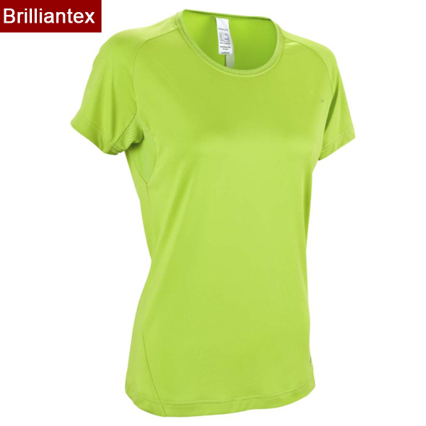 Breathable Purple Wholesale Plain Color Polyester Spandex Sports Tee Shirt for Women