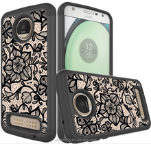 Beautiful Image Flower Printing PU Leather Cover For Moto Z2 Play Combo Case For Moto Z Force 2017
