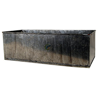 Zinc Rustic Metal Rectangle Planters