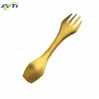 High quality titanium multifunctional camping cutlery spork