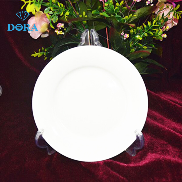 6inch white ceramic plate porcelain dinner plate