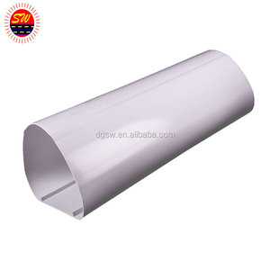 plastic extrusion tube triangle tube PVC/ABS tubing manufacturer square plastic tube