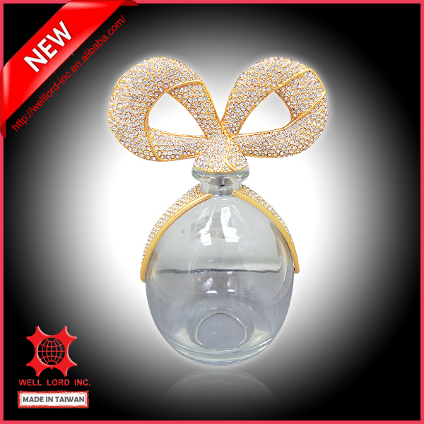 Hot deal Golden star latest must have bow knot decorate glass bottle
