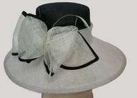 wholesale flower design ladies sinamay elegant church hats for ladies