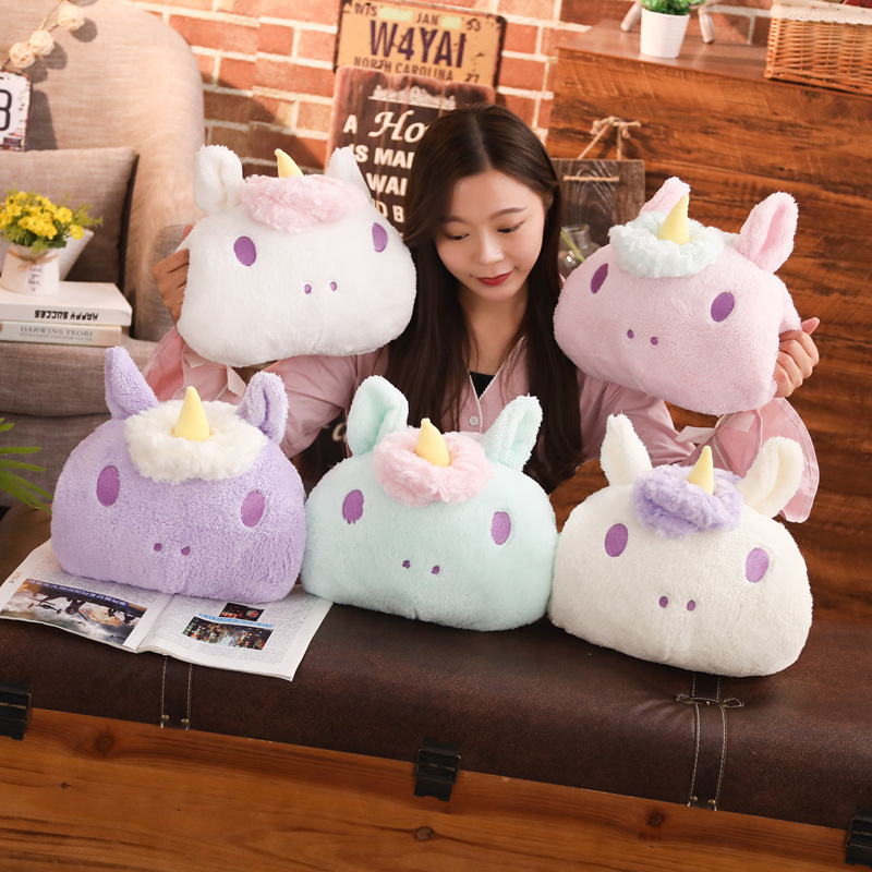 Cute Unicorn Plush Toy Staffed Luminous music travel Pillow Home Furnishing Decoration