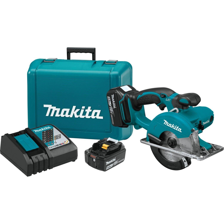 "Makita XSC01T 18V LXT Lithium-Ion Cordless 5-3/8"" Metal Cutting Saw Kit (5.0Ah)"
