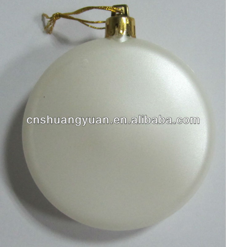 White Promotion Seamless Flat Plastic Ball