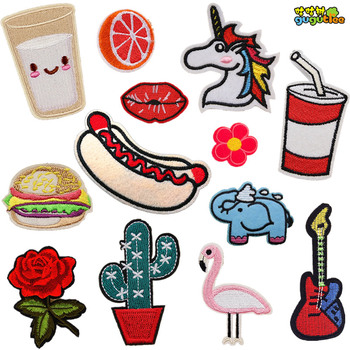 custom embroidered patches 24 Pcs Iron On Motif Applique Glitter Sequin Decoration Patches DIY Sew on for Jeans, clothing