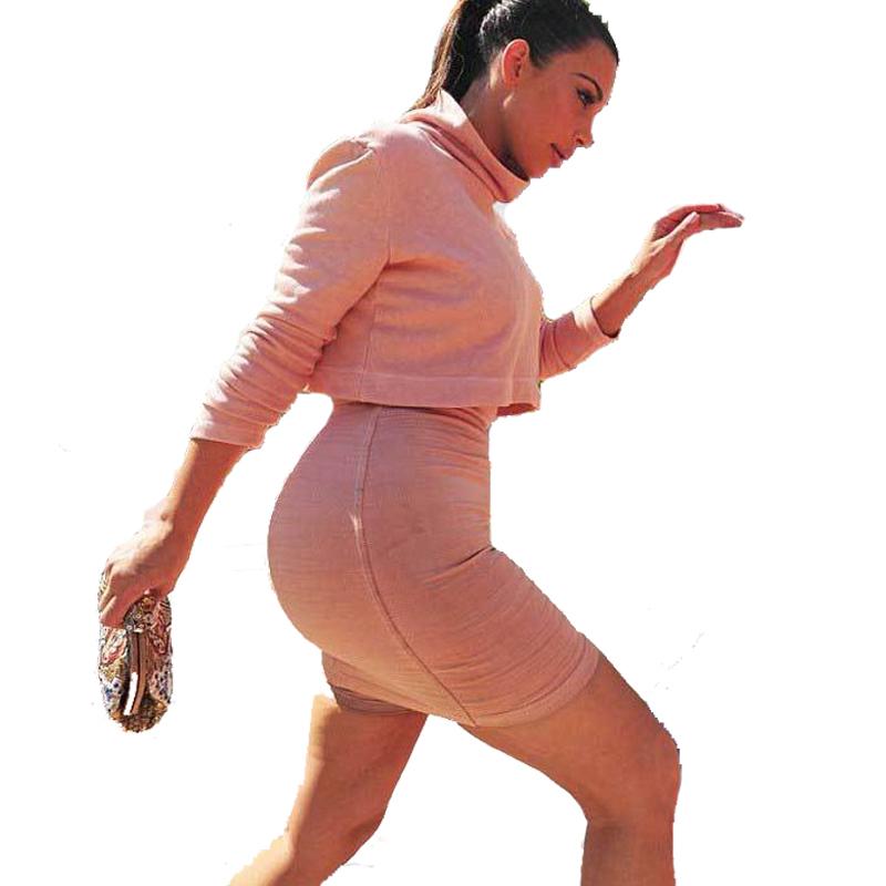 9d68b2976e720 Get Quotations · 2015 New Women Crop Top and Skirt Sets 2 Piece High Waist  Bodycon Pencil Skirt Long