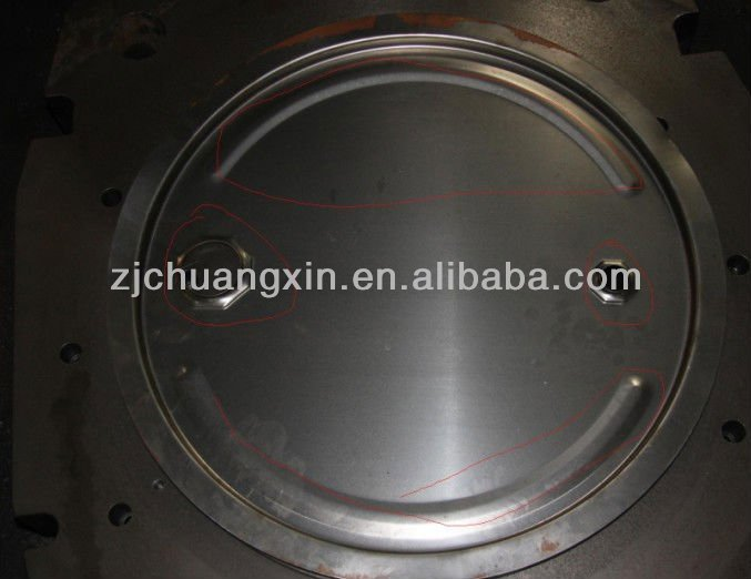 "Steel drum lids with 2"" and 3/4"" closures"