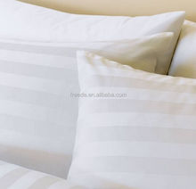 800Thread count percale egyptian 100% cotton 3cm sateen stripe sheet sets and fabric for hotel bedding linen