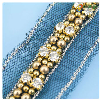 Hot Selling Bead Trimming Bead Embroidery Patterns Rhinestone And