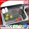 Full Silicone Covered Stainless Steel Dish Rack - 52 L x 34 W cm Silicone Roll Up Dish Drying Rack - 18 Bars