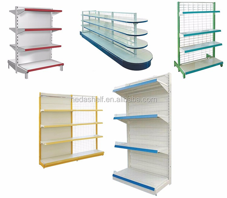 Customized light duty used grocery store shelf supermarket interior design