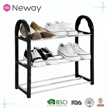 NEWAY User Friendly Stainless Steel Cabinet Living Room Furniture Simple Shoe Rack 3 Or More Layers