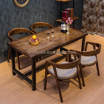 American Country Style Industrial Coffee Table Hotel Lobby