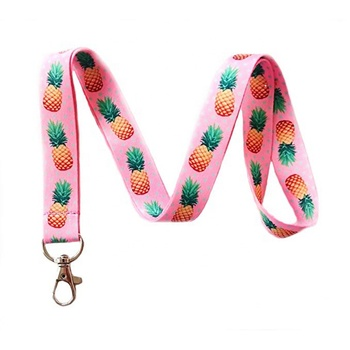 Cheap Custom Fashion Cute Polyester Printed Eco-Friendly Keys Lanyard