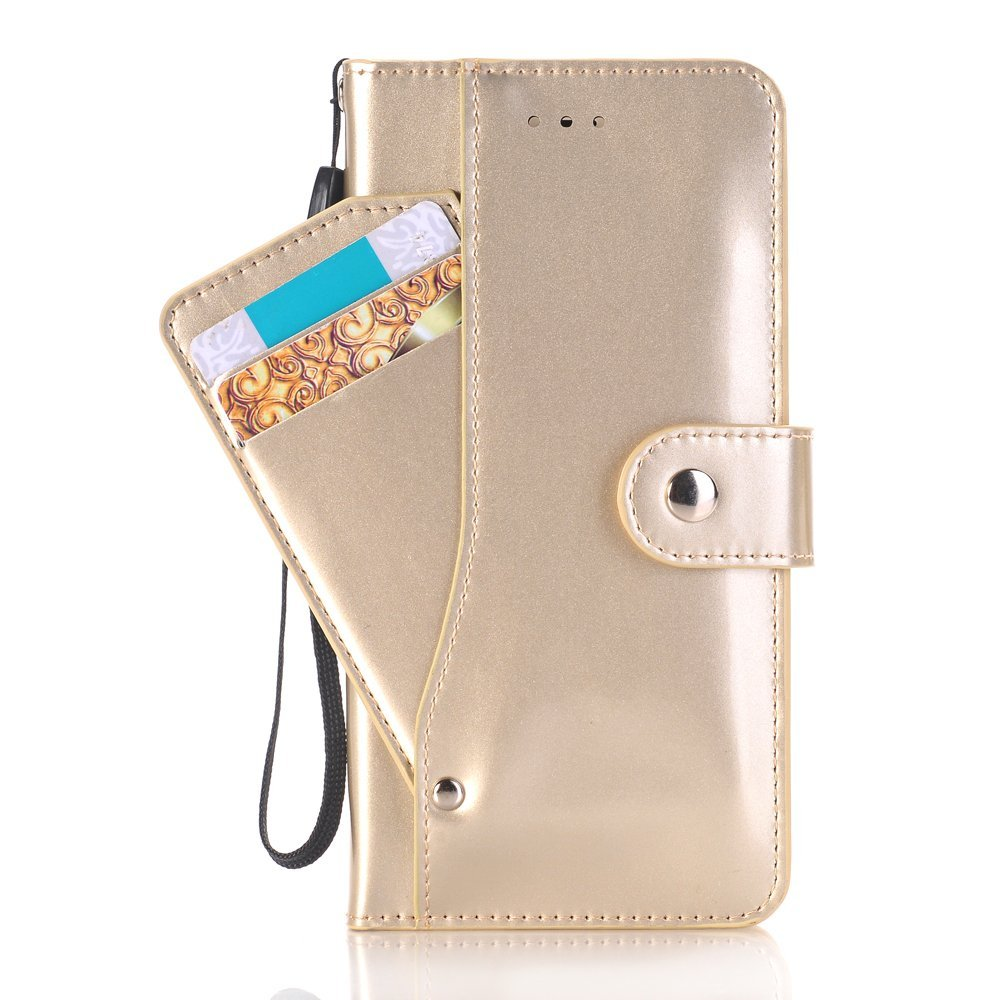 iPhone 7 Plus Wallet Case,SAVYOU iPhone 7 Plus Wallet Card Slot Holder Series Slim Premium Flip PU Leather Wallet Folio Stand Protective Case Cover for iPhone 7 Plus 5.5inch(Gold)