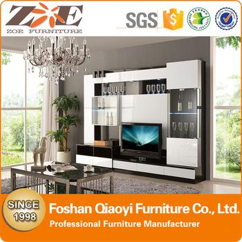 Model Kayu Ruang Tamu Murah Lcd Tv Berdiri Furniture Moden Jenis Desain Kabinet