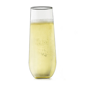 Amazon Stemless Acrylic Recyclable Champagne Shatterproo BPA Free Flute Glasses Plastic Unbreakable Toasting Cocktail Party Cups