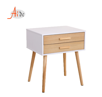 New nordic bedroom furniture wooden mdf night stand with Drawer