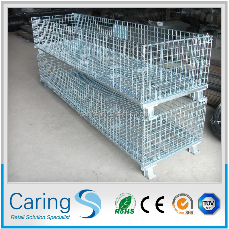 Steel Pallet Box Container/collapsible Wire Mesh Partitions And ...
