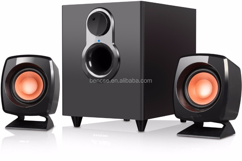 multimedia 2.1 channel pc active speaker,2.1 wooden speakers