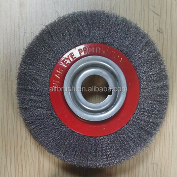 Stainless Steel Wire Wheel | Low Price 150mm Od Crimped Steel Wire Wheel Brush For 8 Inch Bench