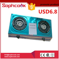promote product portable 2 honeycomb burner stainless steel gas stove, gas cooker