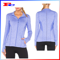 Latest design women activewear fitness gym hoodie with thumb hole