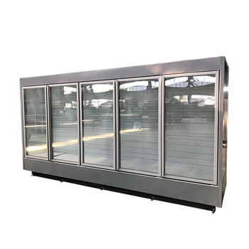 Glass Door Upright Showcase Freezer Supermarket Refrigerator Equipment