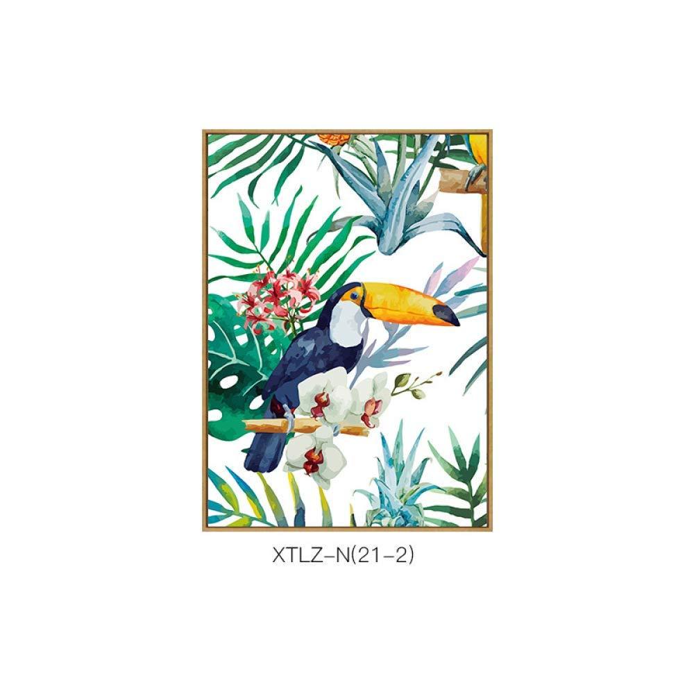 DEE Nordic style paintings, flowers birds pattern literary decorative painting, living room corridor aisle single combination painting, inkjet painting