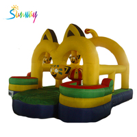 Best Sale Crazy Fun Jumping Castle,Indoor Or Outdoor Commercial Bouncy Castle,0.55mm Pvc Inflatable Bouncer For Sale