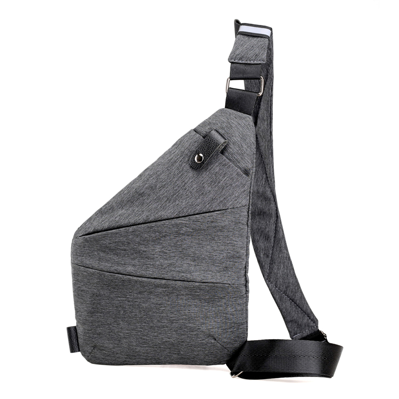 New stylish man chest bag polyester sling bag crossbody