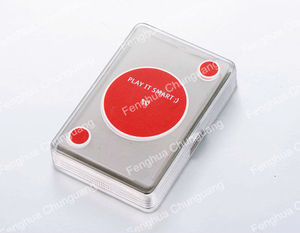 Transparent PET Plastic Poker Playing Cards with Gift Plastic Box
