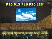 p10 p16 led outdoor screen panels full color / LED message display sign basketball perimeter LED screen board indoor